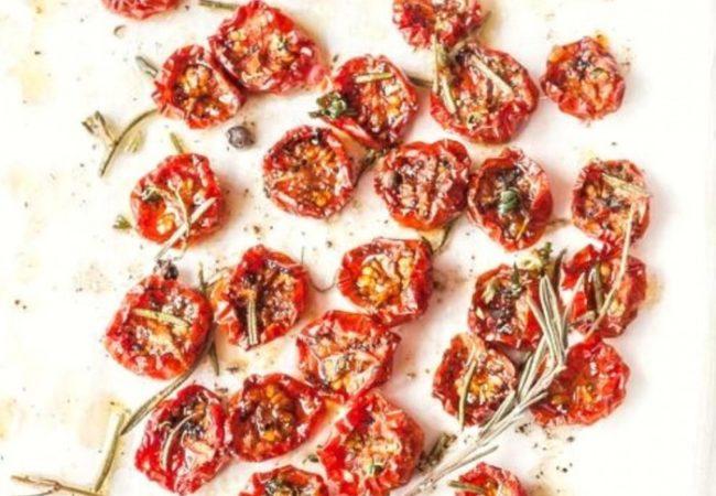 Tomates confites à la fleur de sel