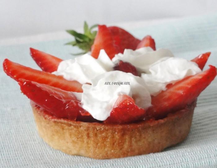 tarte au fraise sans creme patissiere