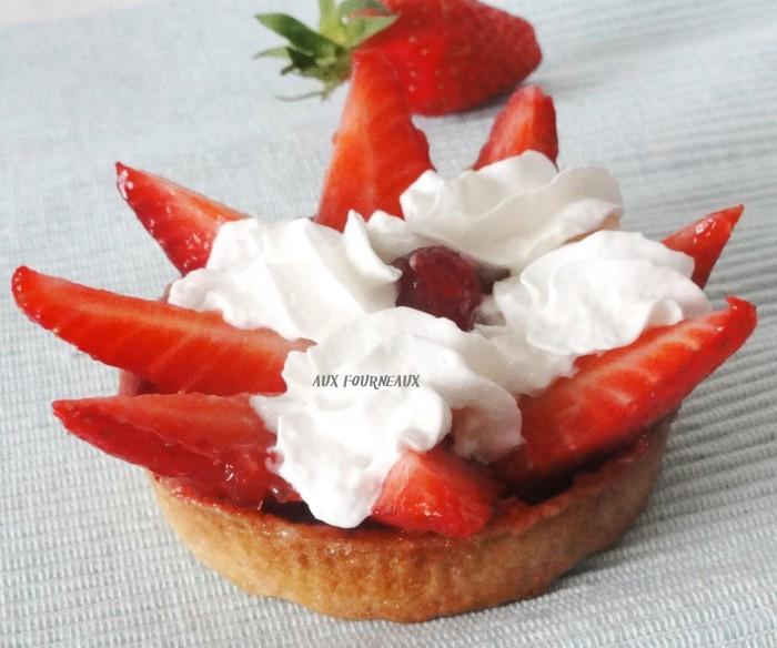tarte aux fraises sans creme patissiere