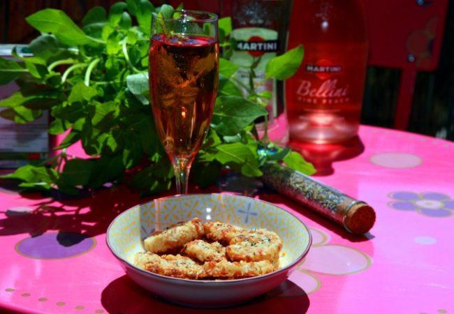 Biscuits apéro parmesan basilic