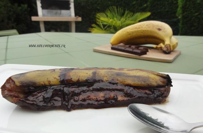 Banane  chocolat au barbecue