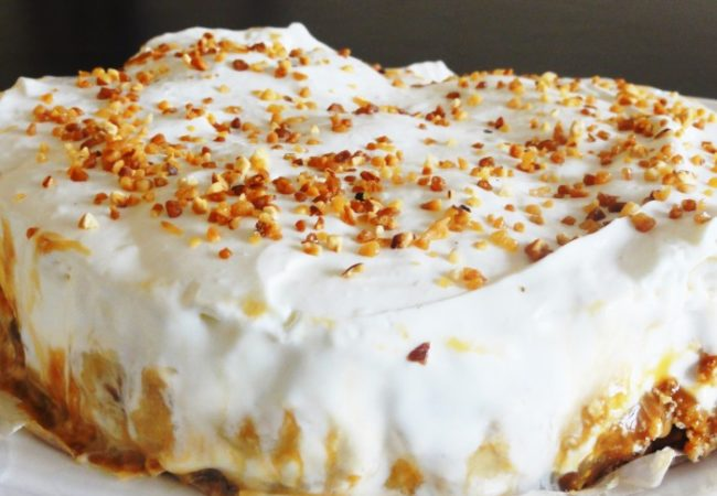 Banoffee pie – tarte banane caramel onctueux