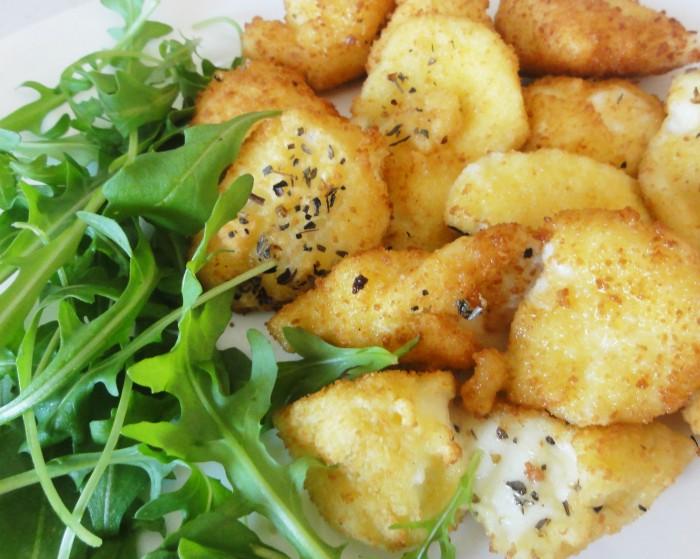 Beignets de mozzarella panee antipasti