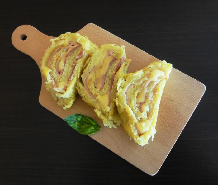 roule de pommes de terre fromage raclette