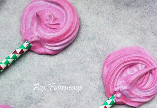 Meringues roses fête foraine