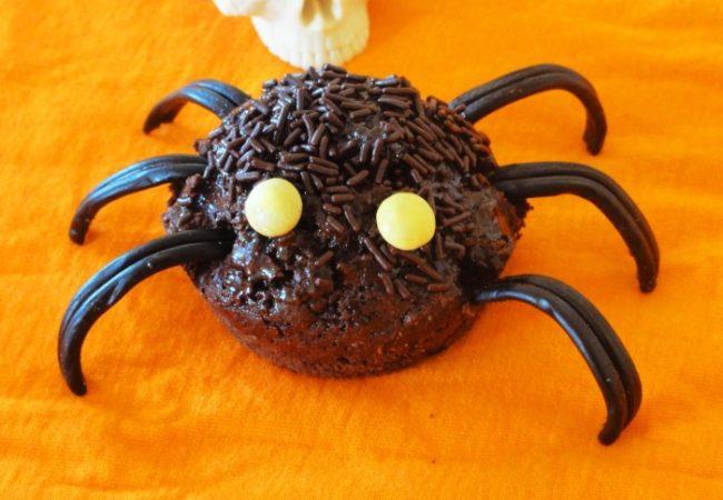 Muffins araignées pour Halloween
