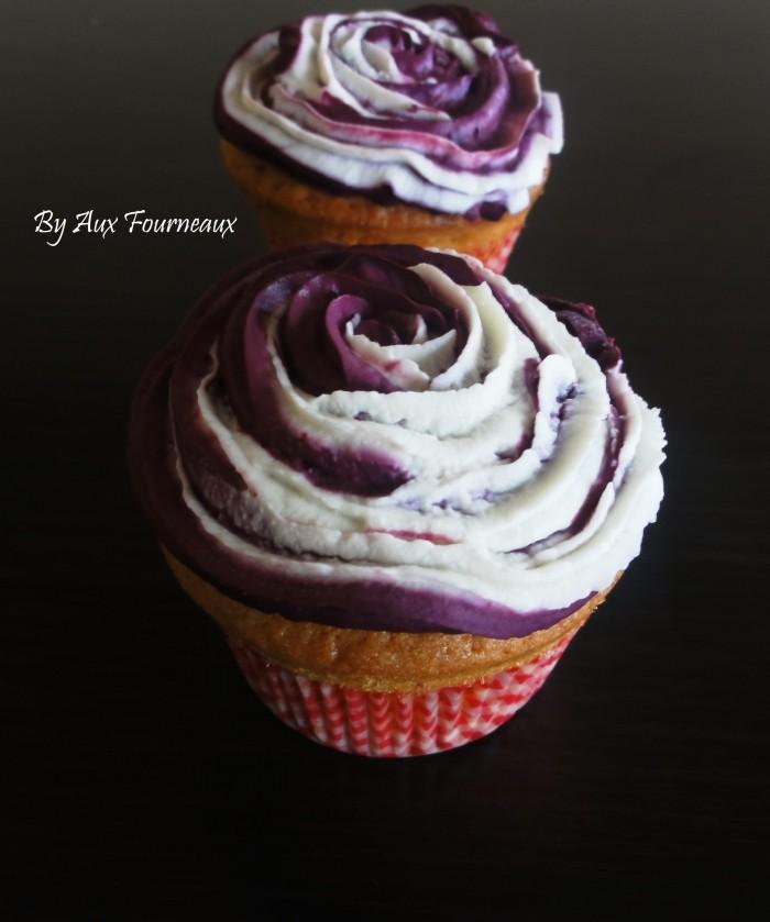 cupcake rose sans creme au beurre