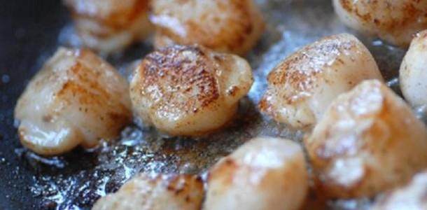 Noix de saint jacques snack es au cidre aux fourneaux - Comment cuisiner des noix de saint jacques ...