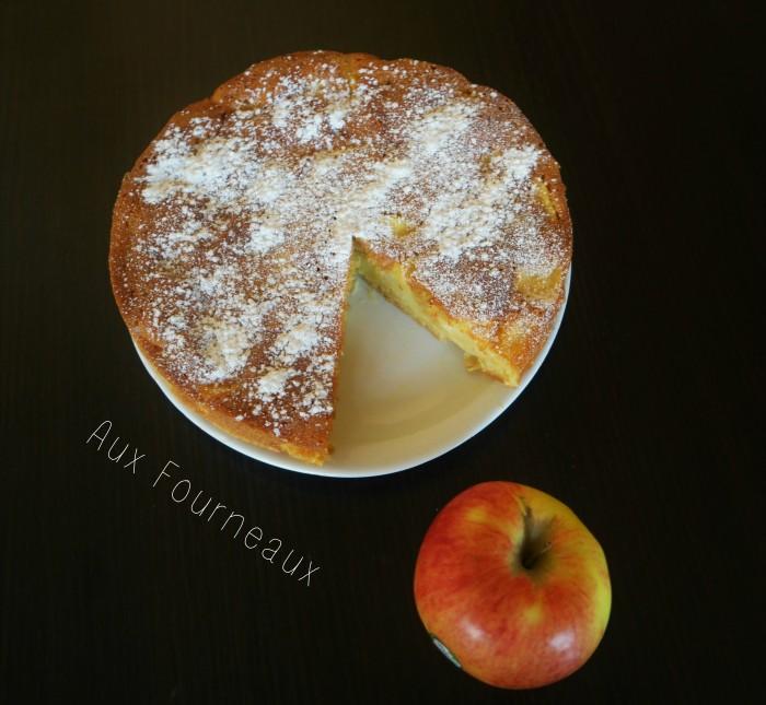 gateau madeleine aux pommes