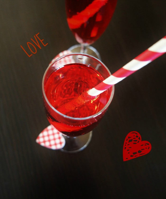 Cocktail Saint Valentin sans alcool