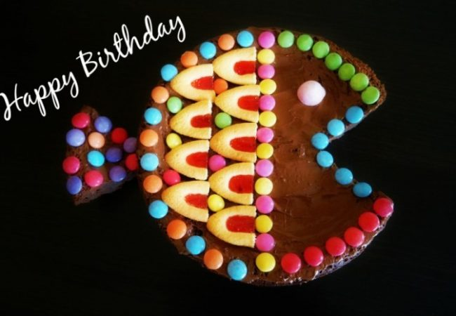 Gâteau anniversaire poisson au chocolat