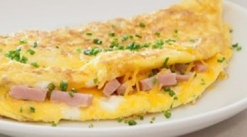 Omelette traditionnelle au fromage