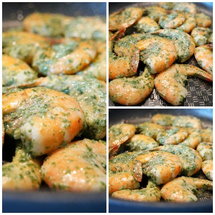 crevettes sautée ail et persil