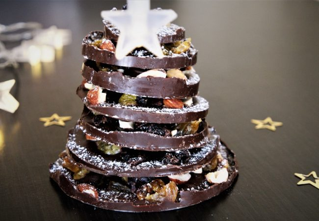 Sapin de Noël en chocolat – Centre de table