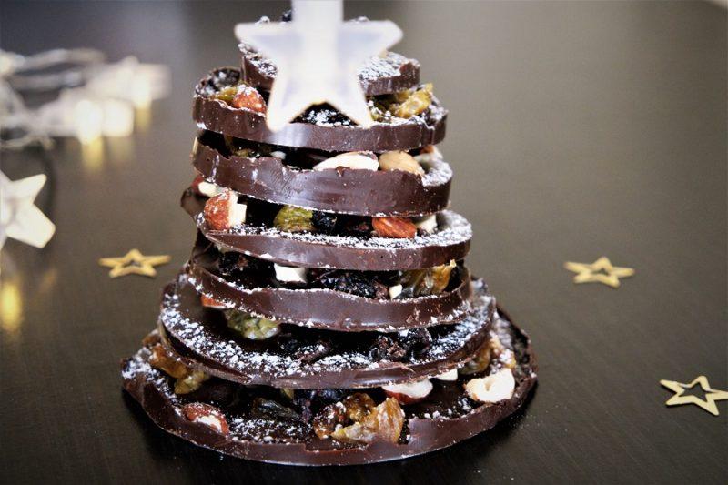 Sapin de Noël en chocolat Centre de table