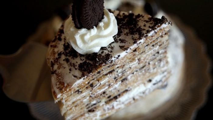 Gâteau mille crêpes Oréo
