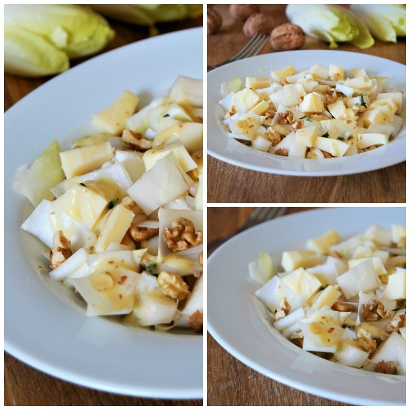 Salade d'endives composée aux noix