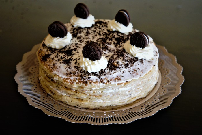 gateau de crepes Oréo