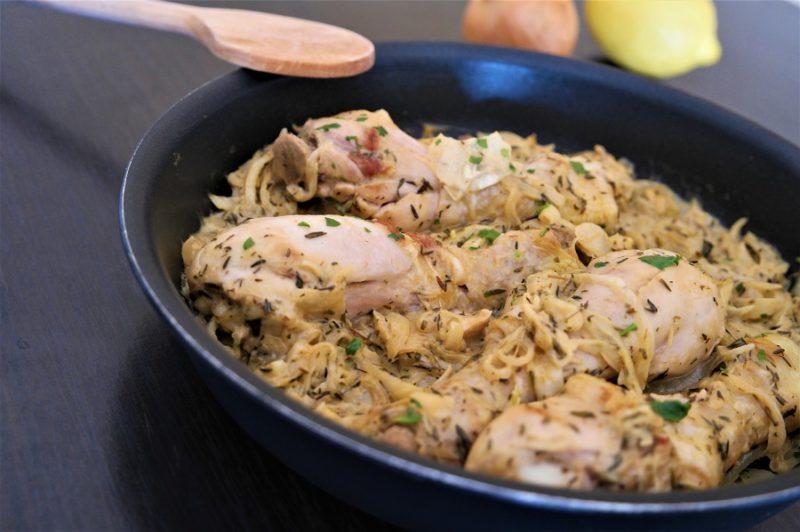 poulet yassa traditionnel facile