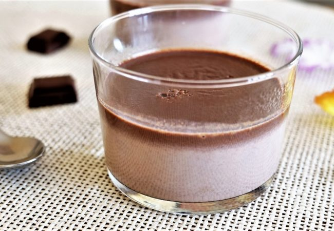 Flan au chocolat sans oeuf sans lactose