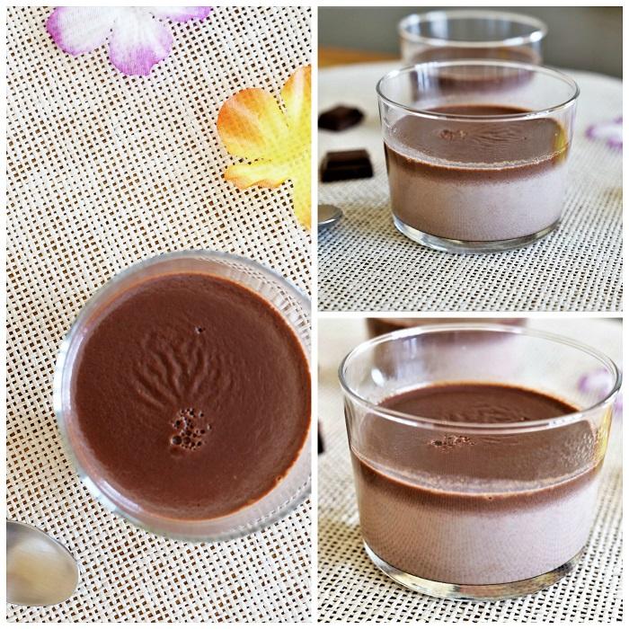 flan chocolat sans oeuf sans lactose