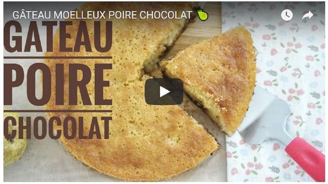Gâteau moelleux poire chocolat