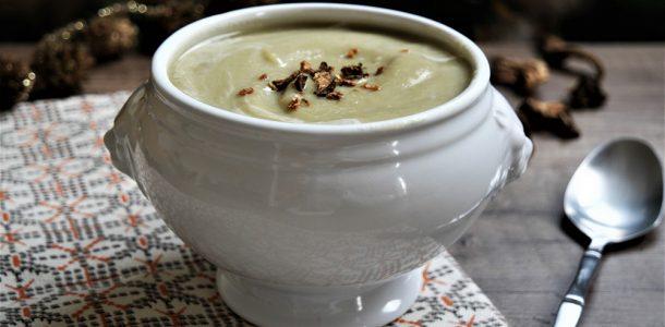 Soupe de poireaux aux cèpes