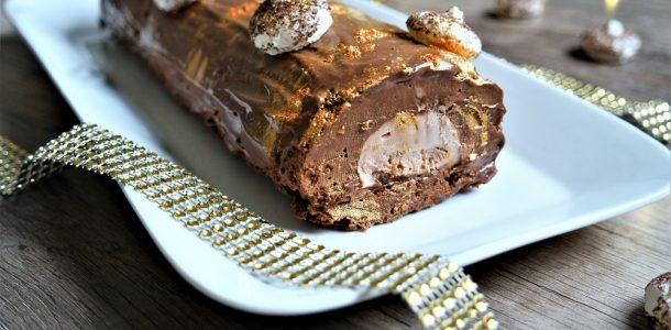 recette buche de noel chocolat praliné