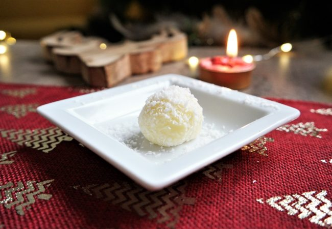 Truffes chocolat blanc noix coco