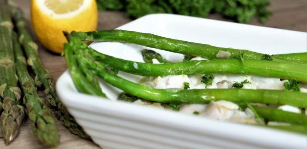 Cabillaud aux asperges sauce au beurre
