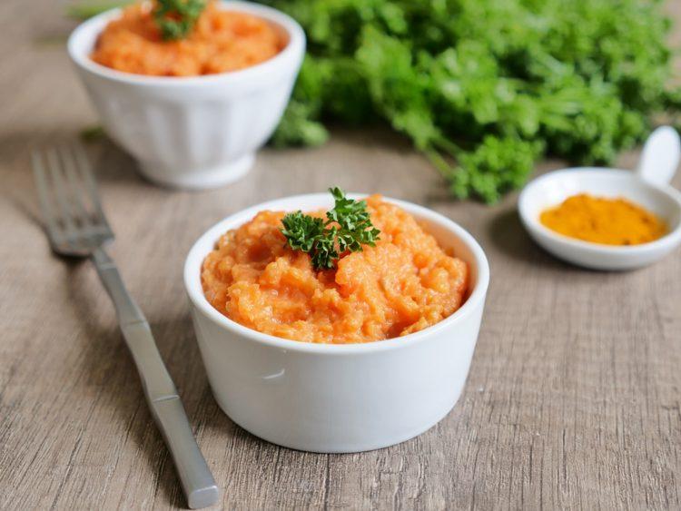 Pur e de carottes onctueuse au cumin aux fourneaux - Puree de carotte maison ...