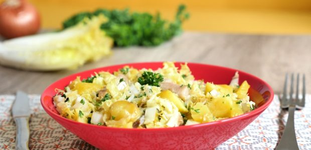 Salade tiède pommes de terre harengs fumés