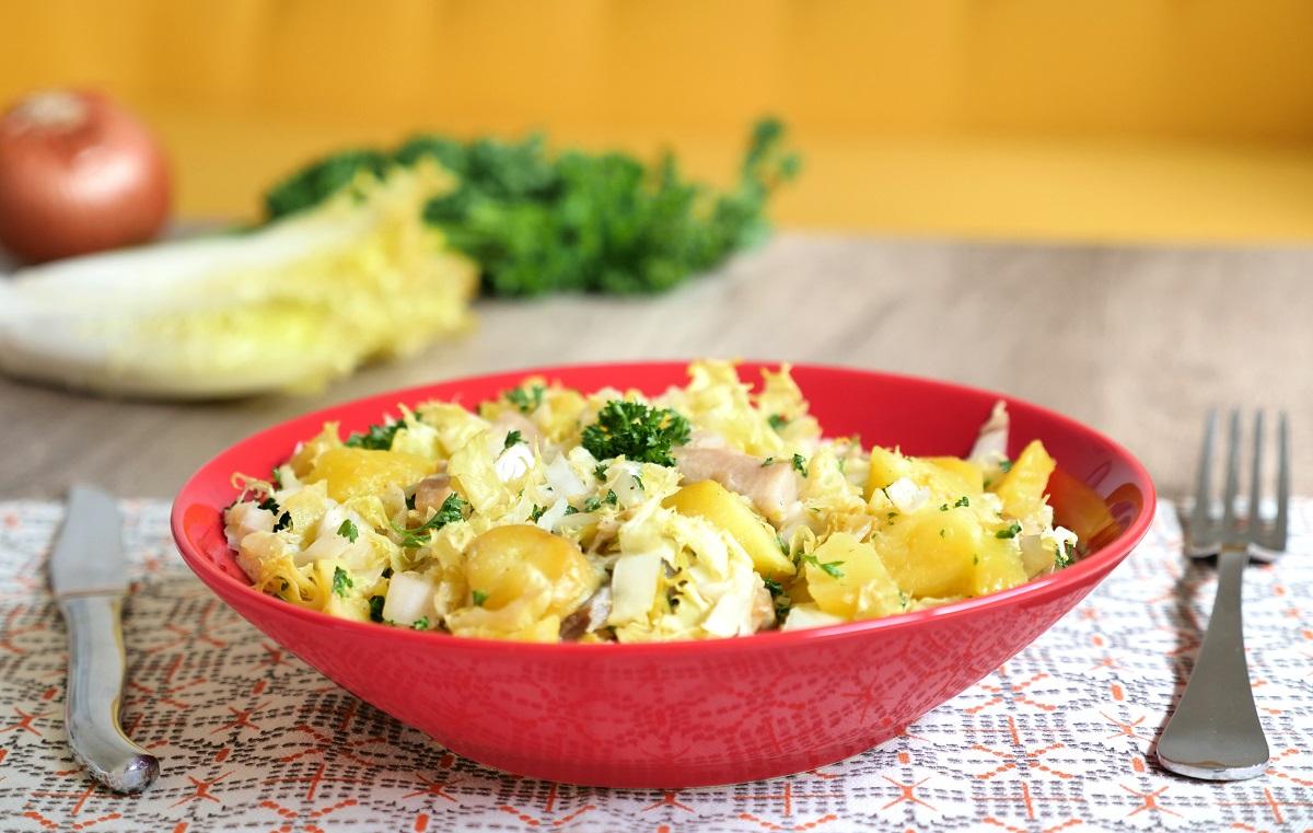 Salade tiède pommes de terre harengs