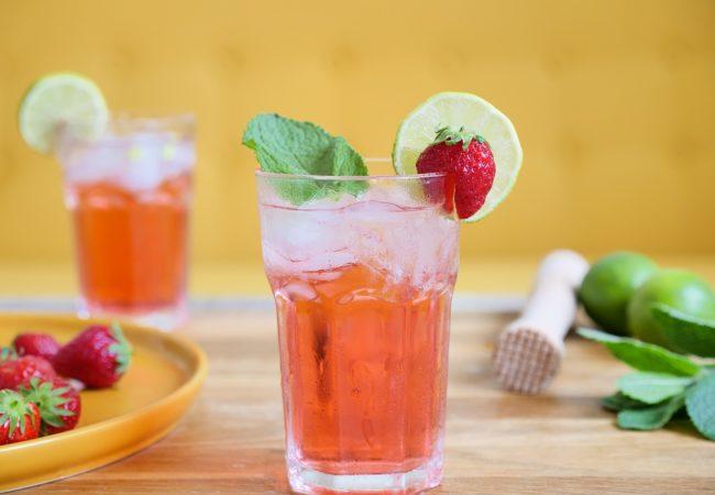 Cocktail Menthe-Pastille fraise