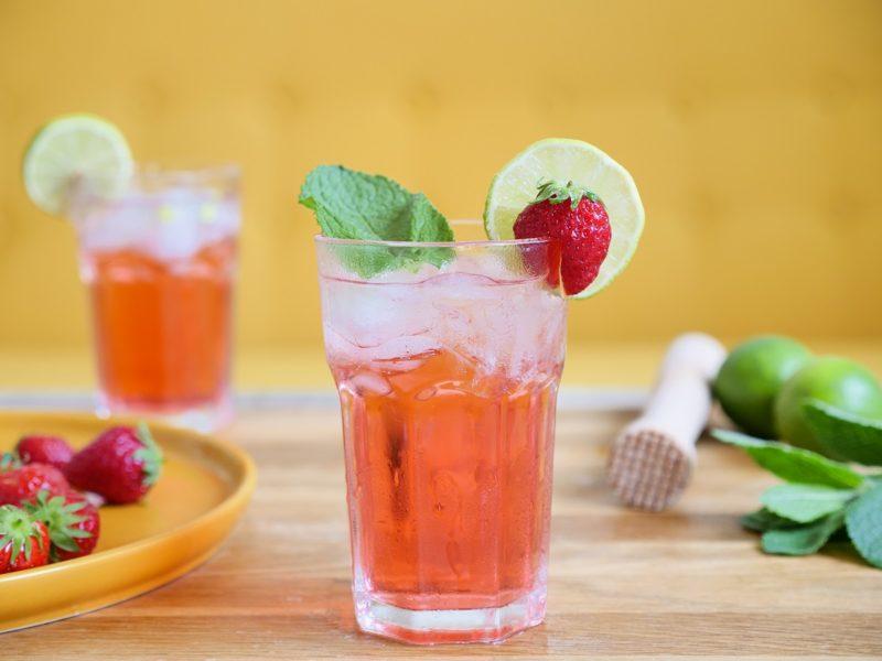 Cocktail facile Menthe Pastille Fraise