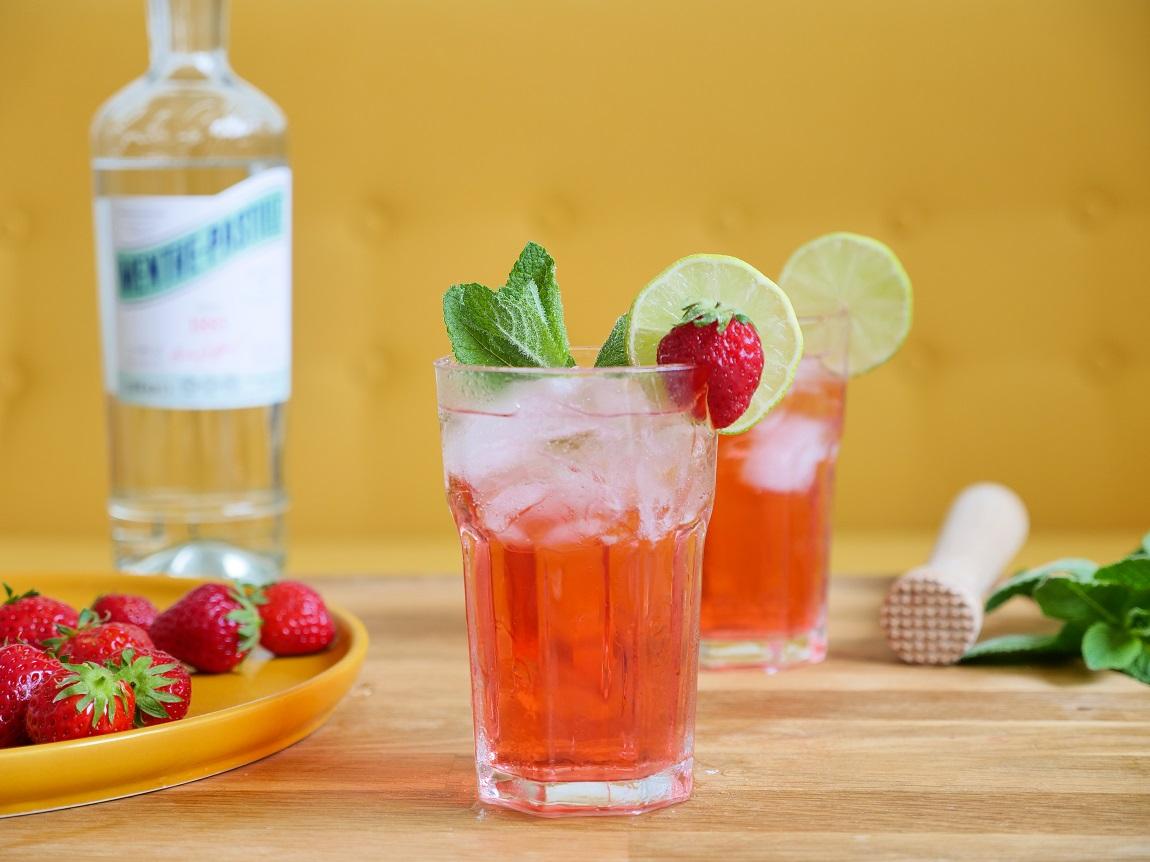 Cocktail Menthe Pastille Fraise