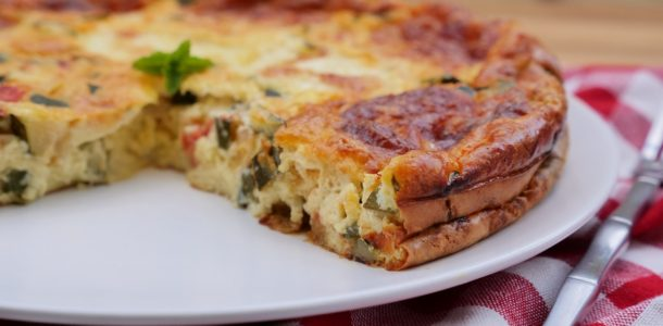 clafoutis courgettes tomates mozzarella aux fourneaux. Black Bedroom Furniture Sets. Home Design Ideas
