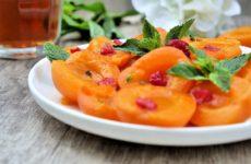 Salade d abricot au sirop à la menthe