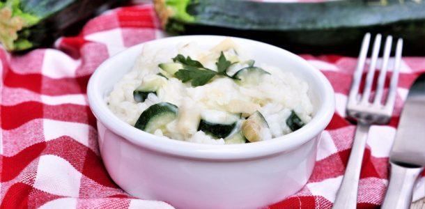 risotto de courgettes au parmesan