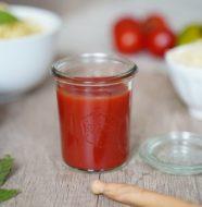 Coulis de tomates maison en bocaux