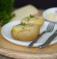 Pommes de terre farcies au fromage fondu