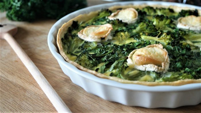 quiche brocoli épinards chevre