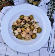 Poêlée de Saint Jacques aux olives verte