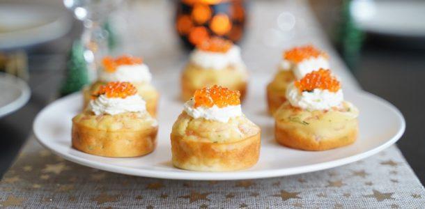 Cupcake salé au saumon fumé