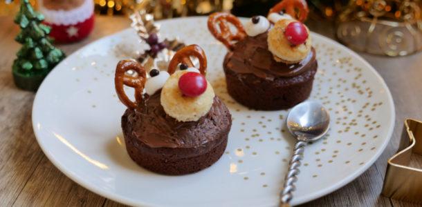 cupcakes de noel tete renne