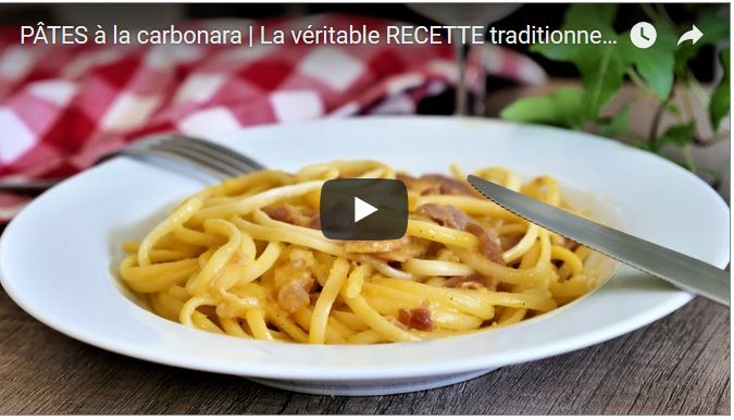 pate carbonara vrai recette traditionnel