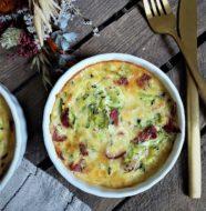 clafoutis courgette chorizo parmesan