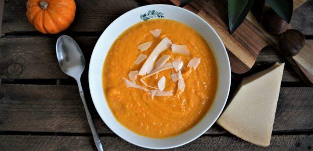 Soupe de potiron au parmesan
