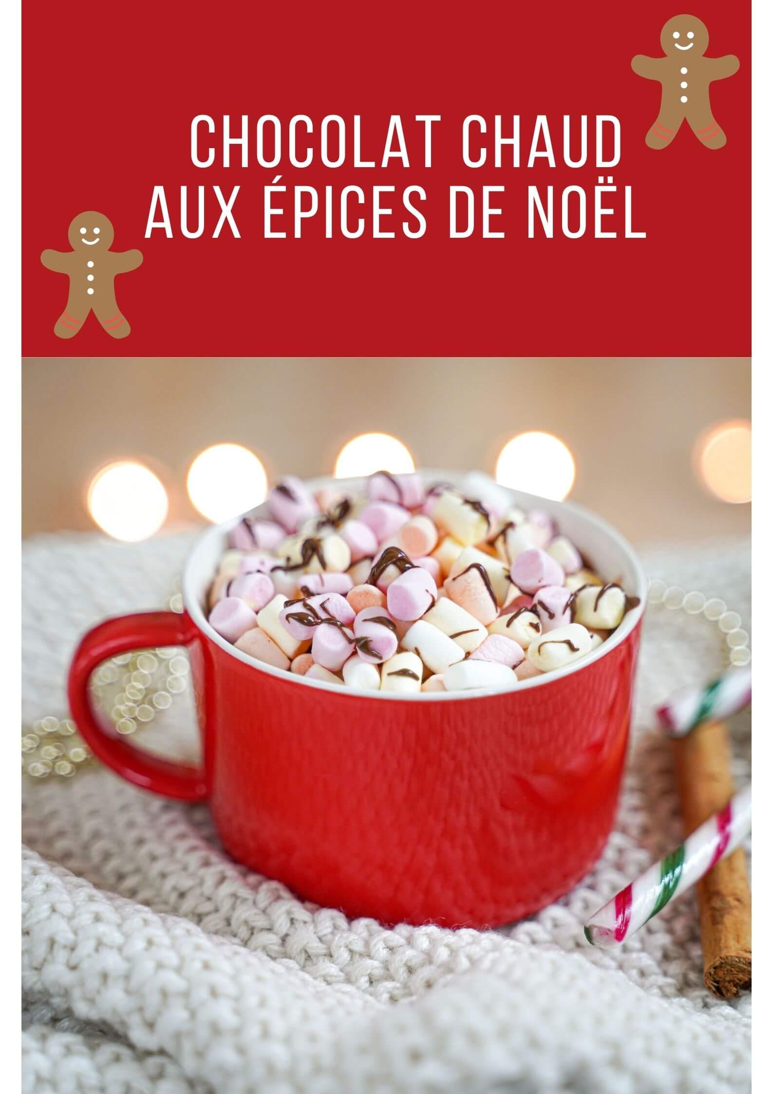 chocolat chaud aux épices de noel