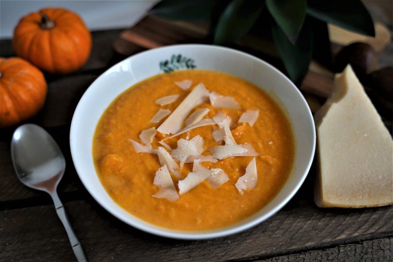 recette de soupe de potiron au parmesan